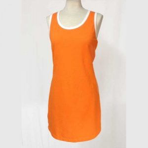Vestido piqué naranja
