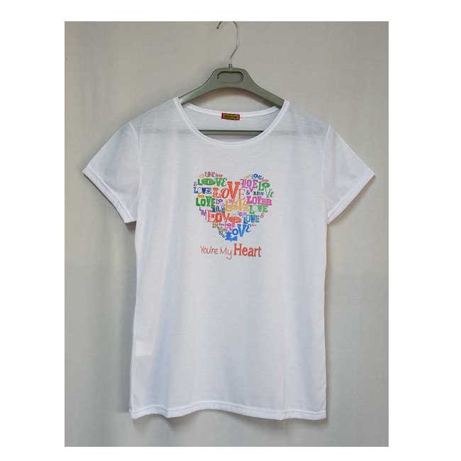 Camiseta estampada Love