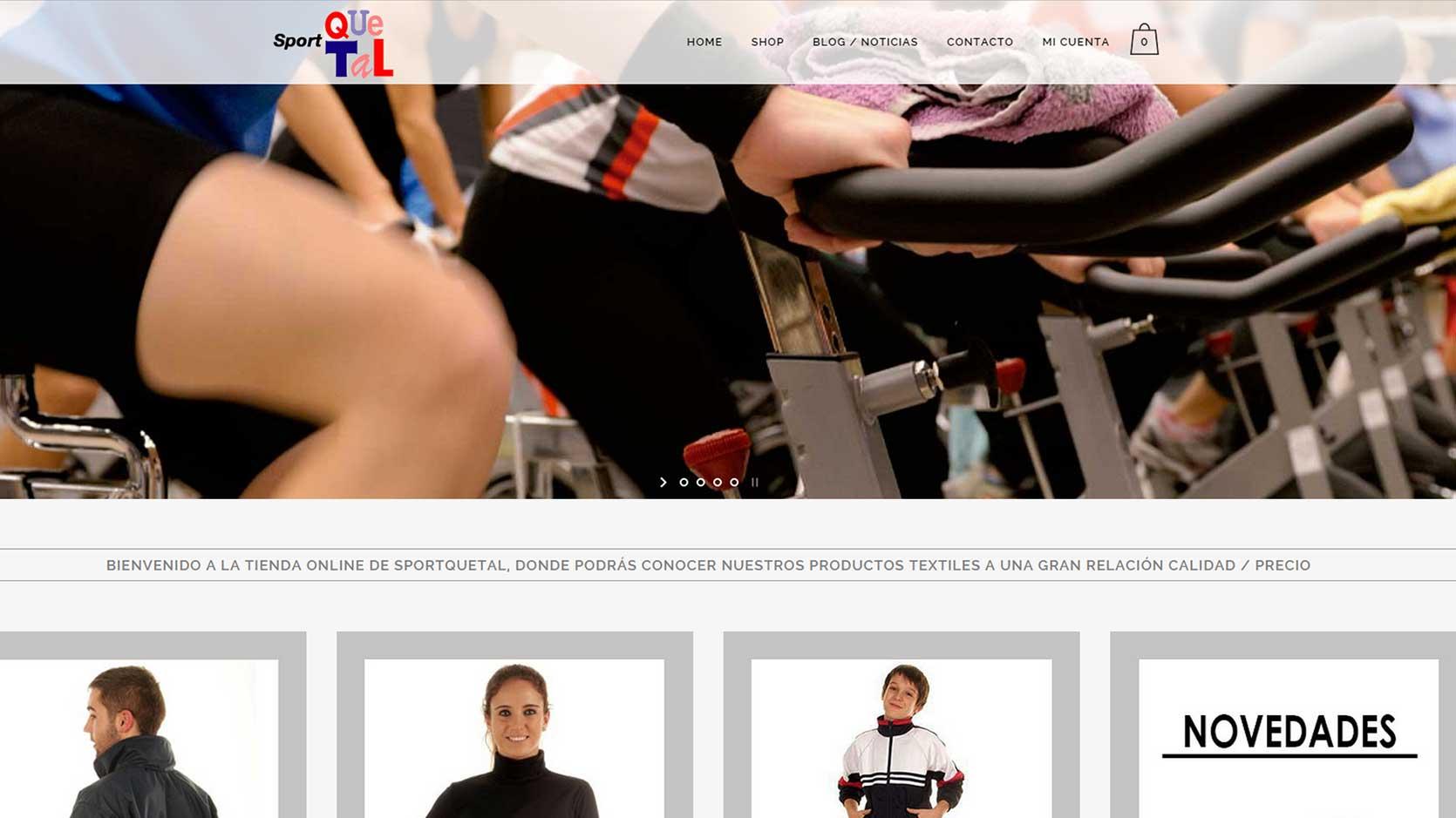 página inicio tienda online