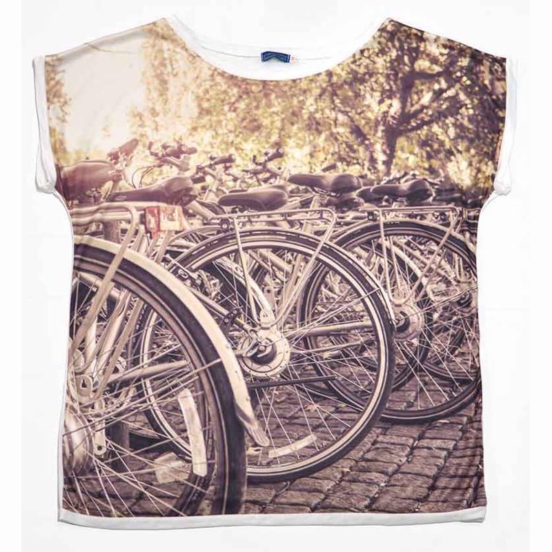 Camiseta estampado bicis